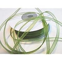 100M x 3mm organza: vert olive