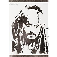 Póster Jack Sparrow Piratas Del Caribe Grafiti Hecho A Mano - Handmade Street Art - Artwork
