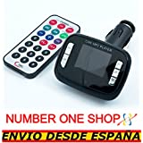 NUMBERONESHOP-REPRODUCTOR MP3 COCHE USB SD CARD MANDO A DISTANCIA FM --ENVIO DESDE ESPANA