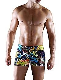 Sidiou Group Shorts de baño por Hombre, Boxer Shorts de baño a la Moda con impresión & Grande tamaño por Playa & Fuente Termal, Boxer Shorts de baño a la Moda