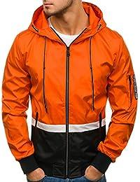 BOLF Herren Übergangsjacke mit Kapuze Reißverschluss Sportlicher Stil Army  Camo ... a9555ab547