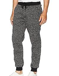 98512e4b50 Ketamyy Hombre Casual Color Puro Pantalones Harlan Cintura Elástica  Pantalones con Cordón
