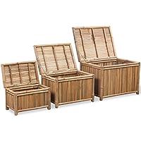 3 Cajas de Almacenaje de Bambú Decoración y Almacenaje de Casa - Muebles de Dormitorio precios