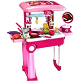 New 2 In 1 Little Chef Kids Kitchen Play Set Big With Light & Sound For 3+ Ages Kids