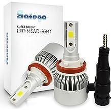 Safego 2x H8 H9 H11 LED Faro Bombillas Alquiler de luces LED 72W 7600Lm LED lámpara con la viruta del COB para el coche vehículo NO CANBUS