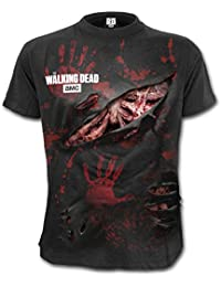 Spiral Men - Zombie - All Infected - Walking Dead Ripped T-Shirt Plus Size