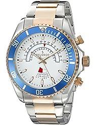 Peugeot para hombre de oro rosa y Cristales y Acero inoxidable Circular Diseño trasero de reloj