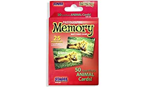 Stages Learning Set of Memory Card Real Photo Concentration Games