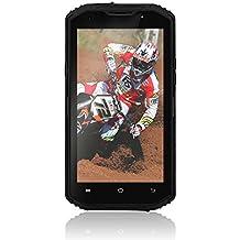 NO.1 X3 - 4G LTE Smartphone Libre Android 5.1 (Pantalla HD 5.5'', MTK6735 Quad Core, 2GB RAM 16GB ROM, 13MP + 5MP Cámara, IP68 Impermeable, Prueba de Polvo Choques, Dual SIM) (Negro)