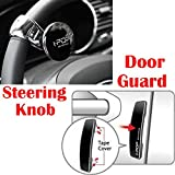 Riderscart I-Pop Car Steering Knob Door Guard with I-POP Car Door Guard with 3M Sticker for Maruti Swift