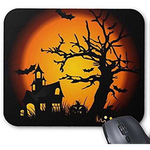 Rettangolo Gaming Mousepad Halloween Haunted House Mouse Pad