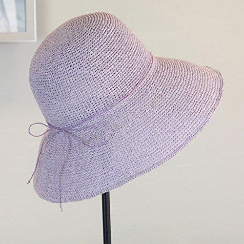 Chapeau De Pêche à La Main à La Main à La Main Lady Summer Foldable Sun Hat A4