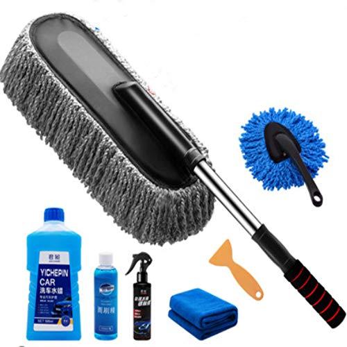 ANIITLGMF Autowaschanlage Werkzeuge Wachs ziehen weiches Haar Sweep Asche Pinsel Langen Griff Stretch Auto Mopp Auto liefert (Flasche Trap-edelstahl)