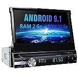 AWESAFE Android 9.1 Autoradio 1 DIN GPS Ecran Tactile numérique 7 Pouces Navigation de Voiture supporte Bluetooth WiFi USB SD Commande au Volant Radio RDS