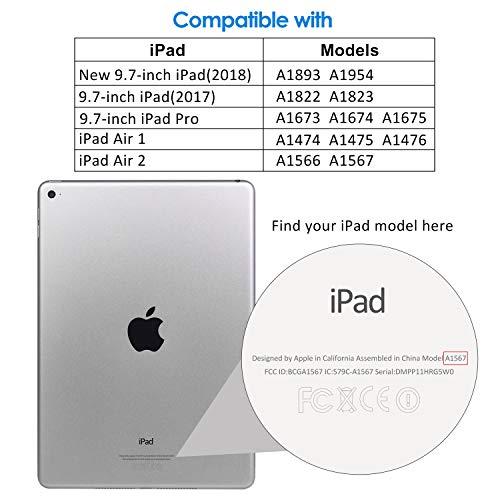 JETech Protector de Pantalla para el Nuevo iPad (9, 7 Pulgadas,  2018/2017 Modelo),  iPad Air 1,  iPad Air 2,  iPad Pro 9, 7