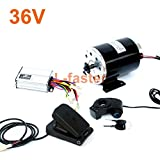 L-faster 24V36V48V 500W Electric High Speed Engine MY1020 Brushed Motor With Foot Electric Bike Replacement Motor Use 25H Or T8F Chain (36V pedal kit)