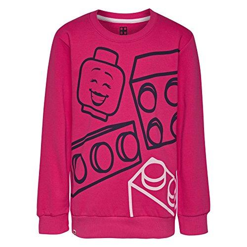 Lego Wear Mädchen Sweatshirt Lego Girl M-72674-SWEATSHIRT, (Dark Pink 490), 134