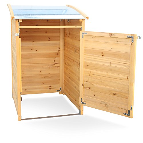 Habau Mülltonnenverkleidung Mülltonnenbox 120, Gelb, 65 x 75 x 115 cm - 5