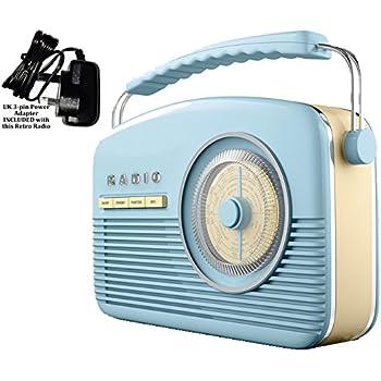 retro dab radio fm nostalgic 1950 39 s 1960 39 s design electric battery powered 14 watts. Black Bedroom Furniture Sets. Home Design Ideas
