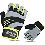 Cockatoo CK114 Professional Comfort Gel Gym Gloves with Wrist Support; Weight Lifting Gloves