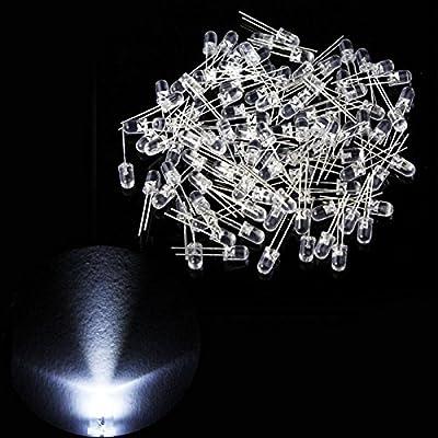 Big Flame 5mm Clear White LED (Light Emitting Diode) -100Pcs