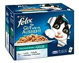 Felix So gut wie es aussieht Fisch Mix 12x100g Katzenfutter von Purina, 3er Pack (3 x 1,2 kg)