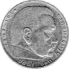 """Preisvergleich Produktbild 2 Reichsmark Deutschland, 1939 A, """"Hindenburg"""" (Jäger: 366) SS"""