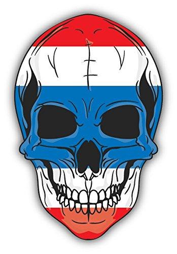 Skull Flag Thailand Hochwertigen Auto-Autoaufkleber 10 x 12 cm - Thailand Spa