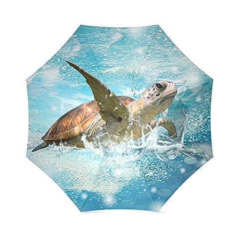 umbrella-waterproof Regenschirm & Faltbarer Regenschirm für Outdoor Tragetaschen Regenschirm, 110,2cm (W) X 65cm (H) (8Rippen), Sonnenschirm und Regen umbrella-sea Schildkröte (4)