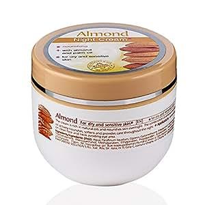 Crema nutriente da notte, pelle secca e delicata, Mandorle.