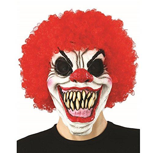 Halloween Clown böse Kostüm Latex-Maske - Pennywise Clown ()