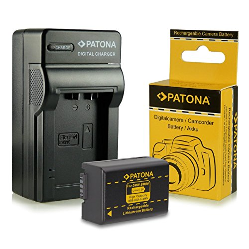 PATONA Chargeur + Batterie Panasonic DMW-BMB9E Leica BP-DC9E pour Panasonic Lumix DMC-FZ40 DMC-FZ60 DMC-FZ100 DMC-FZ150 Leica V-LUX 2 V-LUX 3