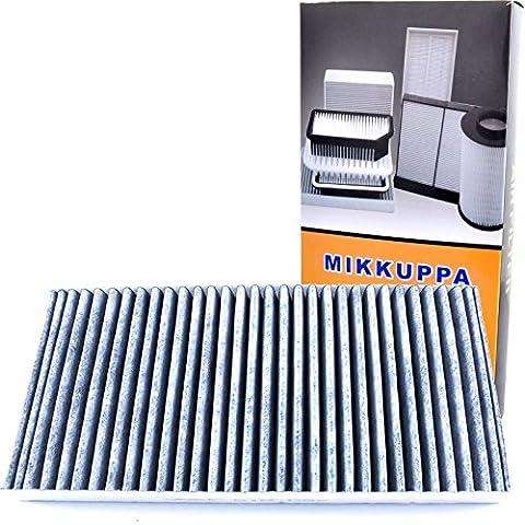 mikkuppa intérieur Filtre à air pour Audi A4modèles 2002–2008Audi A62001–2006Charbon actif Filtre à pollen OE: 4B0–819–439C