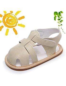 Zapatos de Bebe Primeros Pasos, Morbuy Verano Unisexo Suave Zapato Estilo Lindo Sandalia Material de Cuero s Antideslizante...