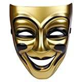 Party Butiko Golden Color Joker Head Mask