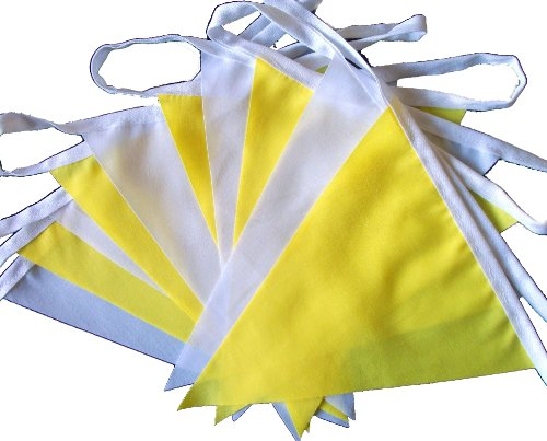 9mtrs-30-flags-yellow-and-white-fabric-bunting-banner-garland