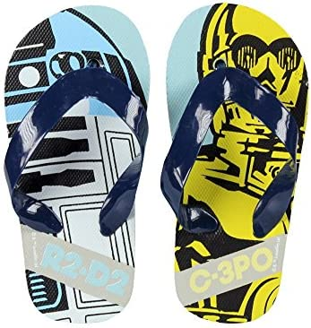 flip*flop - Sandalias de Caucho para niño Azul azul y amarillo