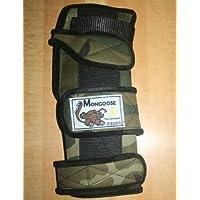 """Mongoose–Protectores de """"óptimo soporte de banda de muñeca de bolos (mano izquierda, Camo"""