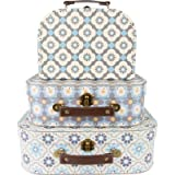 Sass and Belle by RJB Stone – Valigia, Trolley – Set di 3 valigette mosaico Mediterraneenne