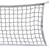 Augproveshak Red de Voleibol estándar, 9.5M 1M Red de Voleibol con Borde de Acero Cable de Acero Red de Voleibol para Interiores al Aire Libre para la Competencia, Entrenamiento, práctica