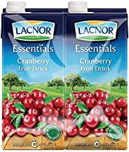 Lacnor Essentials Cranberry Fruit Drink - 1 Litre (Pack of 4)
