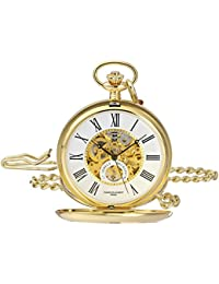 Charles-Hubert, Paris 3973-G Classic Collection Analog Display Mechanical Hand Wind Pocket Watch