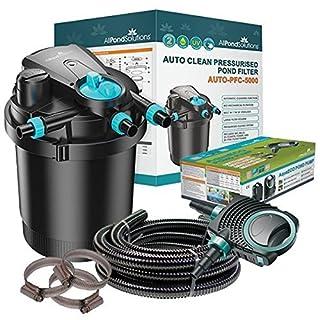 Auto Cleaning Pressurised Koi Pond Filter UV Steriliser All in One Kit 5000L/H