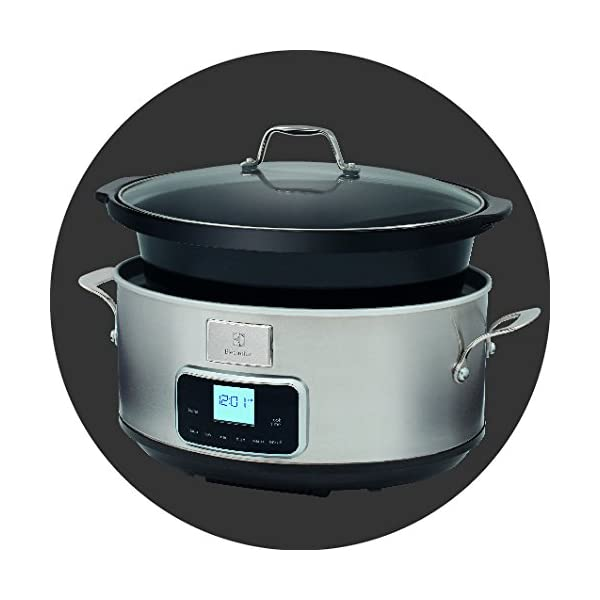 Electrolux ESC7400 Slow Cooker, Pentola Elettrica in Ceramica, Timer, 235 W, 6.8 Litri, 0 Decibel, Acciaio Inox, Argento 3 spesavip