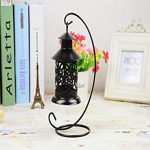 YANGBAO Kerzenhalter Lampe Dekoration Aus Weißem Sand Eisen Handwerk Ornamente Für Halloween Valentinstag Hochzeit Schwarz (Handwerk Halloween Kerzenhalter)