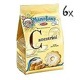 6x Mulino Bianco Canestrini Kekse mit zucker cookies brioche Kuchen 200 g