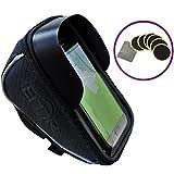 Custodia BTR DELUXE 2-in-1 porta GPS/Smartphone da MANUBRIO con PARASOLE: l'eccezionale borsa porta cellulare che non ti farà più perdere!! Ora con 6 toppe autoadesive