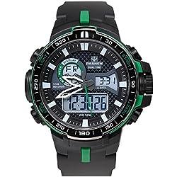 boys digital watch/Dual sport watch/Outdoor waterproof watch-A