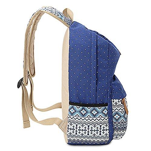 Minetom Damen Herren Canvas Rucksack Schultasche Casual Daypack Für Outdoor Camping Reisen Black