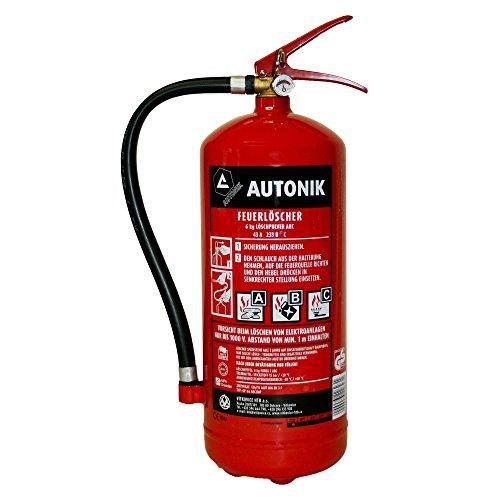 Preisvergleich Produktbild AUTONIK 226230 Pulver-Feuerlöscher ABC, 6 Kg
